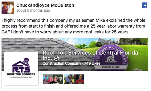Roof Top Services Review