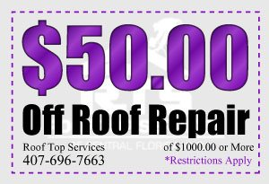 Coupon for roof repair